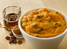 Maple Mashed Sweet Potatoes with Cranberries Recipe