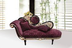 Elegant Princess Purple Chaise Lounge , Neo classic Rococo Furniture , Decoration ideas