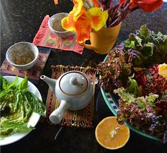 Quick, inspiring & wholesome vegetarian recipes to lift the spirit in a body well nourished. Orange Salad, Beetroot, Green Leaves, Beets, Lettuce, Noodles, Carrots, Vegetarian Recipes, Dressing