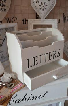 Special Delivery GRAU Briefablage Letterbox Briefbox Organizer B/üro Landhaus Shabby Chic