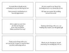 Wedding Thank You Examples Work template wedding pictures