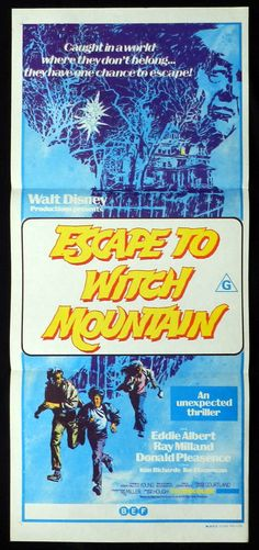 Escape to Witch Mountain Disney Movie Poster 1975 Disney Movie Posters, Best Movie Posters, Cinema Posters, Original Movie Posters, Disney Movies, Sci Fi Movies, Old Movies, Vintage Movies, Walt Disney