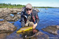 Another great fish from the Russian Tundra. Many Thanks for this great picture! Tight Lines, AOS Fly Fishing Team. http://www.aos.cc/travel-flyfishing/yokanga-russland/  #flyfishing #browntrout #looptackle #russia #AOS