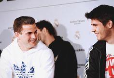 Alvaro Morata & Nacho at the new Adidas store.