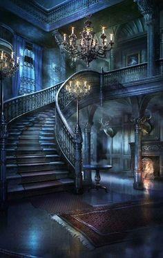 architecture old gothic castles Brierwell Fantasy Places, Fantasy World, Dark Fantasy, Episode Backgrounds, Gothic House, Gothic Castle, Fantasy Castle, Fairytale Castle, Haunted Mansion