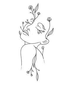 Abstract Face Art, Abstract Lines, Art Drawings Sketches, Tattoo Drawings, Outline Art, Minimalist Art, Cute Tattoos, Canvas Art, Embroidery