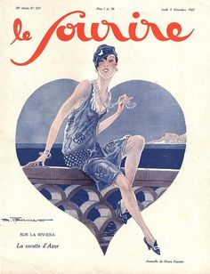 Illustration by Henry Fournier for Le Sourire, 1920s (via hoodoothatvoodoo)