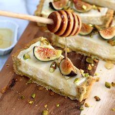 Fig Mascarpone Tart Honey Drizzle