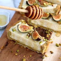 Baking the Goods - Fig Mascarpone Tart With Pistachio Black Pepper Crust