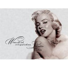 """""""Women who seek to be equal with men, lack ambition. """"Marilyn Monroe Vinyl wall art Inspirational quotes and saying home decor decal sticker"""