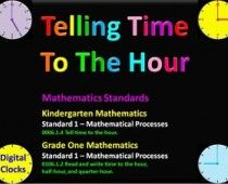 Info How to reinforce telling time to the hour for grades Time To The Hour, K 1, Telling Time, Kindergarten Math, Mathematics, School Stuff, Chart, Teaching, Education