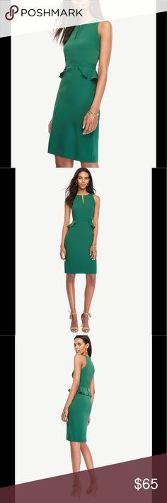 Ann Taylor peplum sheath dress Ann Taylor peplum sheath dress 👗. NWT. Size 6. 💯% polyester.  Fully lined. Color: green Eden. Ann Taylor Dresses