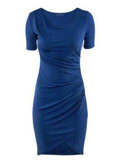 Fantastic dress, love the dark royal blue.