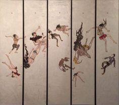 FALLING, Wang Yawei (b1940, Ganzhou Province, China; based in France as a citizen)   PIN made by RomANikki