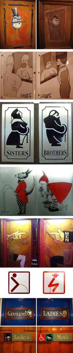 bathroom signs!