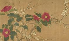Spring Flowers by an unknown Chinese artist Oriental Flowers, Chinese Flowers, Japanese Painting, Chinese Painting, Traditional Paintings, Traditional Art, Silk Painting, Watercolor Paintings, China Art