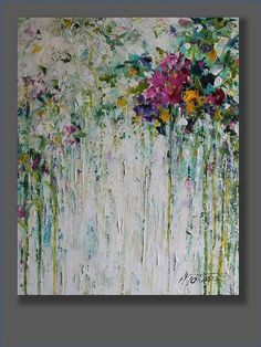 Sabine Abstract Flower Painting Abstract Acrylic Painting Acrylic Artworks Original Abstract Artwork Palette Knife Modern Art Gifts for Her Acrylic Painting Flowers, Acrylic Artwork, Abstract Flowers, Acrylic Paintings, Acrylic Canvas, Portrait Paintings, Painting Inspiration, Art Inspo, Painting & Drawing