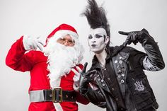 "1,972 Likes, 24 Comments - Van Hitman⚰ (@van_hitman) on Instagram: ""Happy Holidays to all with Santa Claus #goth #gothic #gothgoth #daddychristmas #christmas…"""