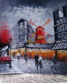 Paris painting  - Moulin Rouge