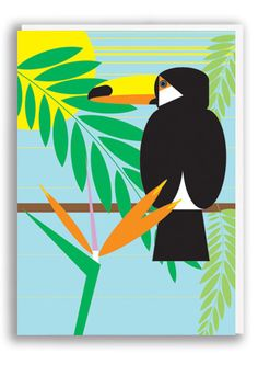 Wildside Toucan Greetings Card | 1973