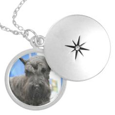 Locket - Customized Locket Necklace, Necklaces, Black Felt, Fashion Necklace, Jewerly, Bling, Fancy, Schnauzer, Bijoux