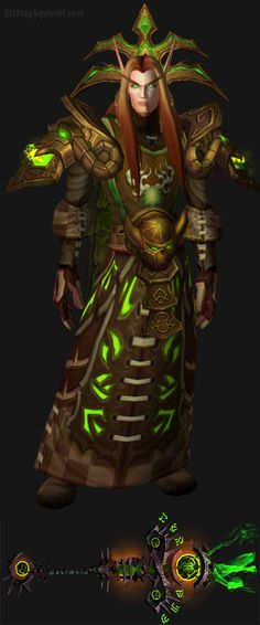 Blood Elf Male Destruction Warlock Artifact Transmog. World of Warcraft Set Ideas