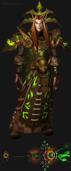 Blood Elf Male Destruction Warlock Artifact Transmog. World of Warcraft Set Ideas