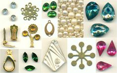 over one-hundred new jewelry making supplies have been added to www.JansJewels.com! additions this week include vintage glass rhinestones, brass findings, pearls, metal paints, and much more!
