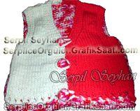 Atık yünlerden süslü yelek örneği Exact fancy wool vest models