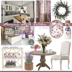 Style in by PIXERS: fresh lavender, lavender motives on plates, violet & purple lavenders on Lavender Decor, Provence Style, Color Pallets, Rustic Style, Wall Colors, Wall Murals, Gallery Wall, Table Decorations, Walls