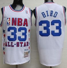 Mitchell And Ness Celtics  33 Larry Bird White 1990 All Star Stitched NBA  Jersey Larry 1efbce85a