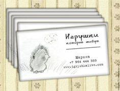 """Визитки ручной работы. Ярмарка Мастеров - ручная работа Макет визитки """"Живые игрушки"""". Handmade."""