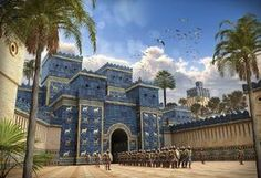 Illustrations of Ancient Mesopotamia (2017 Image Salvage) - Printable Version Architecture Tattoo, Gothic Architecture, Classical Architecture, Sustainable Architecture, Landscape Architecture, Gate Of Babylon, Ancient Greek Architecture, Ancient Mesopotamia, Remodels And Restorations