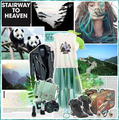 """Do you see a bluer sky now? You can have a better life now Open your eyes..."" by aniael ❤ liked on Polyvore"