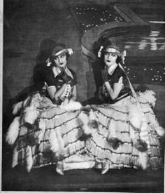 The Dolly Sisters in their Mazurka costumes