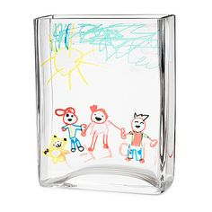 Frame a snapshot of your child's first forays into the world of art with this timeless vase by artist Jenny Gaynor