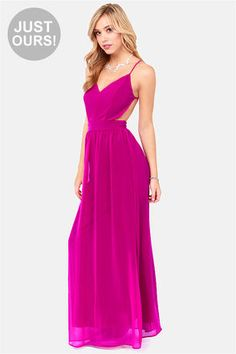 LULU*S LULUS Exclusive Rooftop Garden Backless Magenta Maxi Dress Love it!  173   $49 4.71 STARS  7 REVIEWS | WRITE A REVIEW COLOR:MAGENTA S...