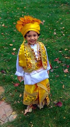 Kids Halloween costume - Bhangra outfit