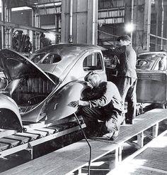 Fábrica de Wolfsburg, em 1947