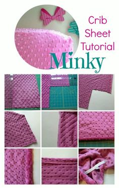 Minky Crib Sheet Tutorial | How to sew a minky crib sheet for baby and toddler | Coral + Co.