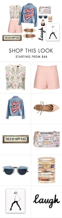 """Sin título #55"" by ana-jg ❤ liked on Polyvore featuring Needle & Thread, Valentino, High Heels Suicide, Poncho & Goldstein, Chanel, Christian Dior, Ashley Pittman and Nina Ricci"