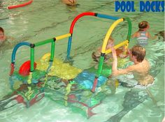 PoolDocks Pool Platform helps kid build their confidence so they can learn to swim without fear.