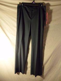 NEW Atelier Women's Slacks Stretch Pants Gray Pinstripe Dress/Casu $98-10 Petite #Atelier #DressPants