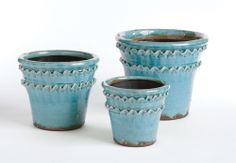 Vintage Double Fluted Pot Set of 3 - Napa Home and Garden | domino.com