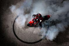 Ducati Hypermotard donut  #Ducati #Red #Hypermotard #Donut #Stunting #Smoking #Badass