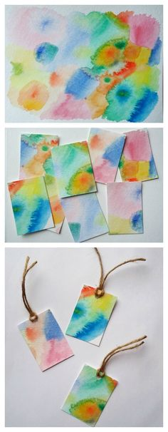 Grab your watercolours and a brush because today we're making watercolour gift tags! Click through for the full tutorial.