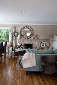 living room, antique theater chairs