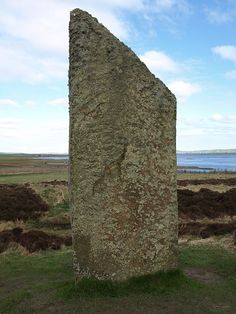 Standing stone at the Ring of Brodgar, Orkney.
