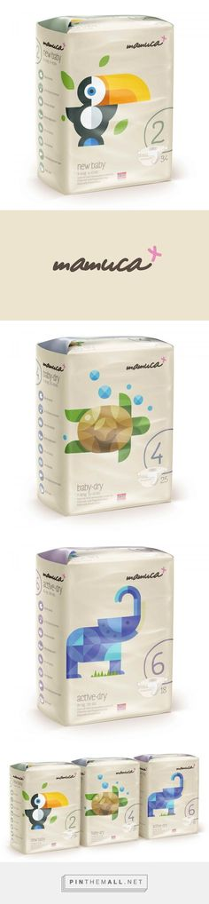 Mamuca Nappies by Horea Grindean.(Concept). Source: Behance. Pin curated by #SFields99 #packaging #design #inspiration #ideas #baby