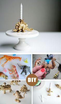 DIY: Bougies avec des jouets animaux